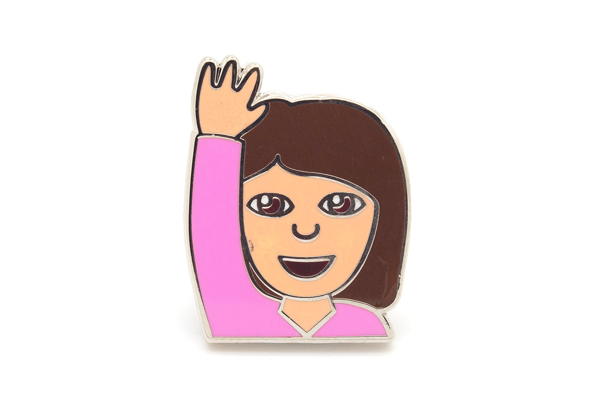 Hand Up Girl Pin