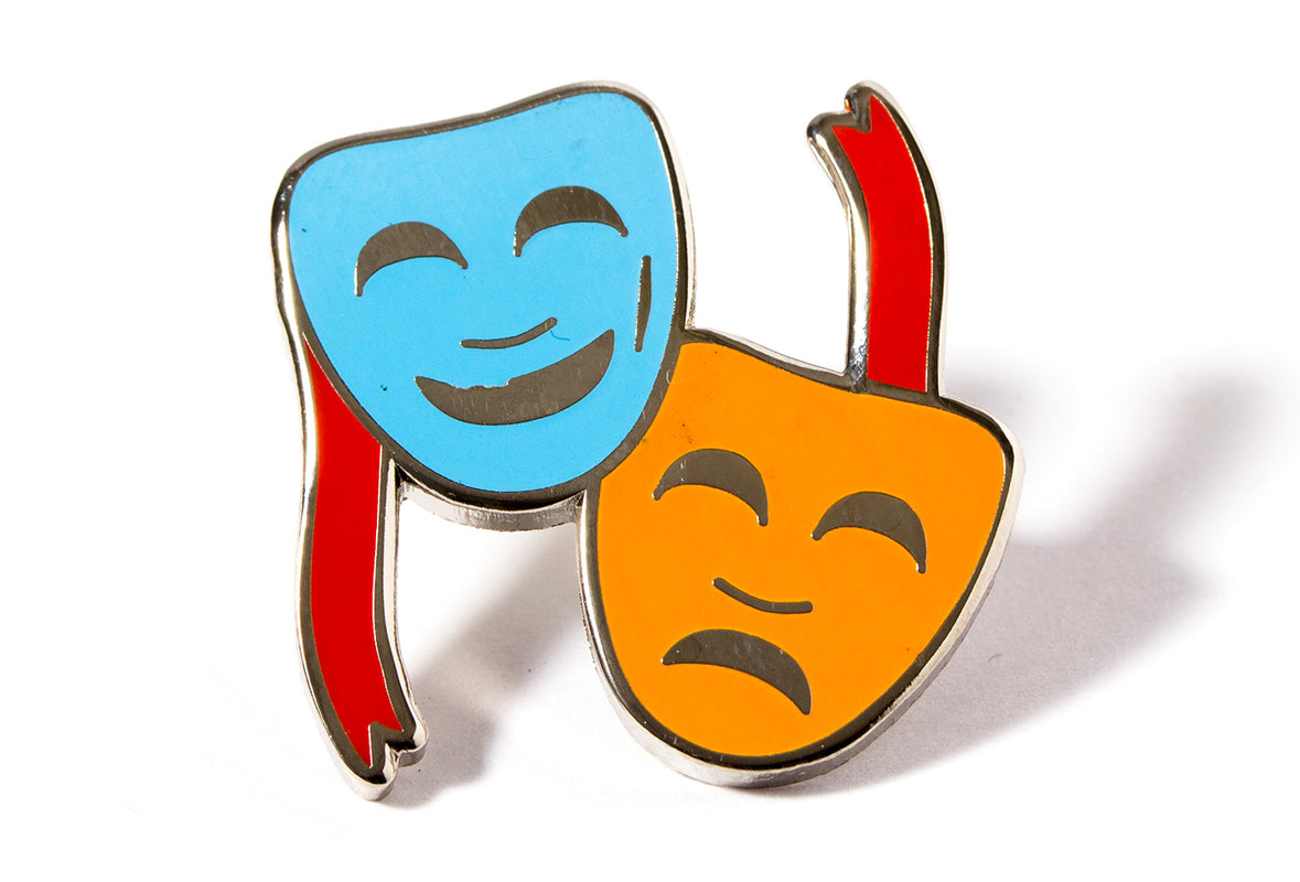 Theater Masks Pin