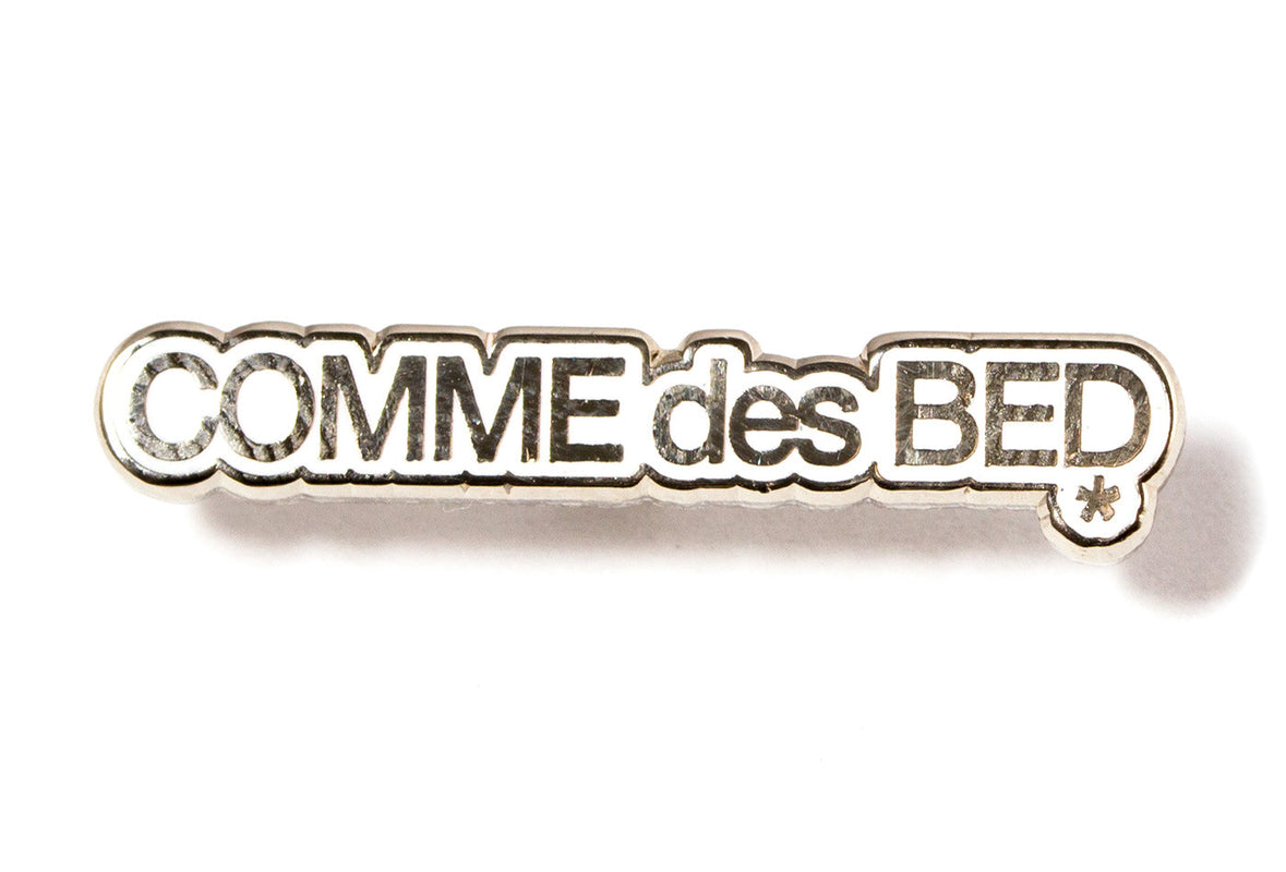 Youth Machine Comme des Bed Pin - White and Silver