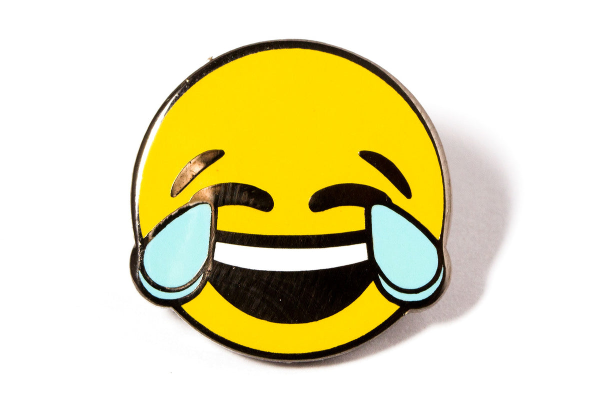 Happy Tears Face Pin
