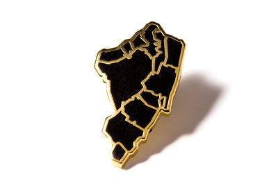 J Frost Staten Island Borough Pin - Black and Gold