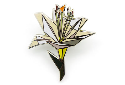 Luxury Lily Pin - White