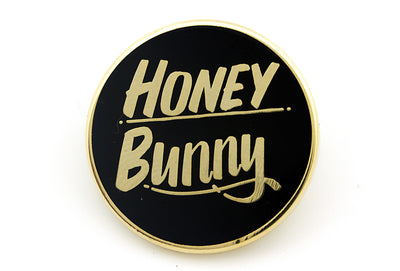 Honey Bunny Pin - Black and Gold