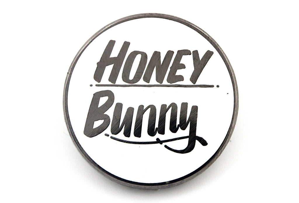 Baron Von Fancy - Honey Bunny Pin - White and Silver