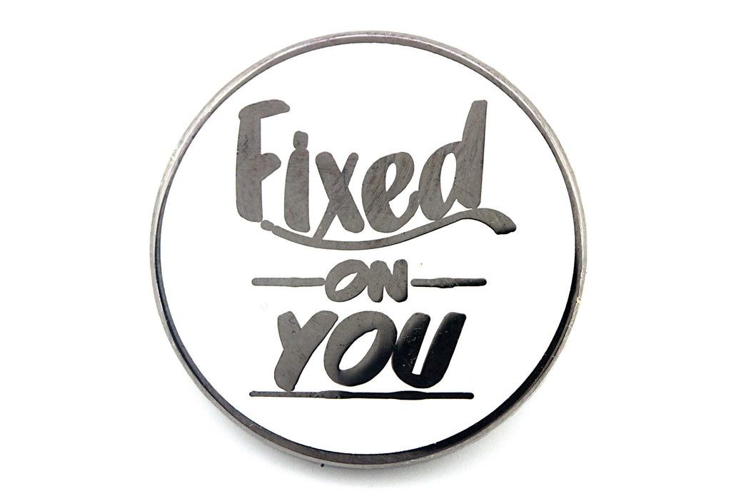 Fixed on You Pin - White and Silver