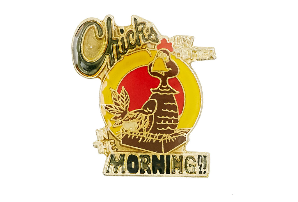 Vintage Cartoon Chicken Pin
