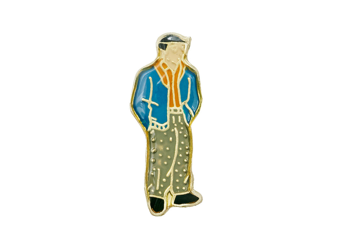Vintage Cartoon Boy Pin