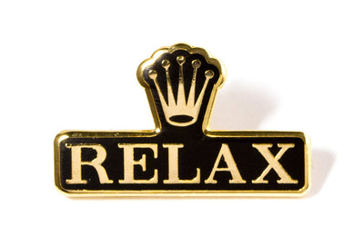 Relax Pin - Black and Gold