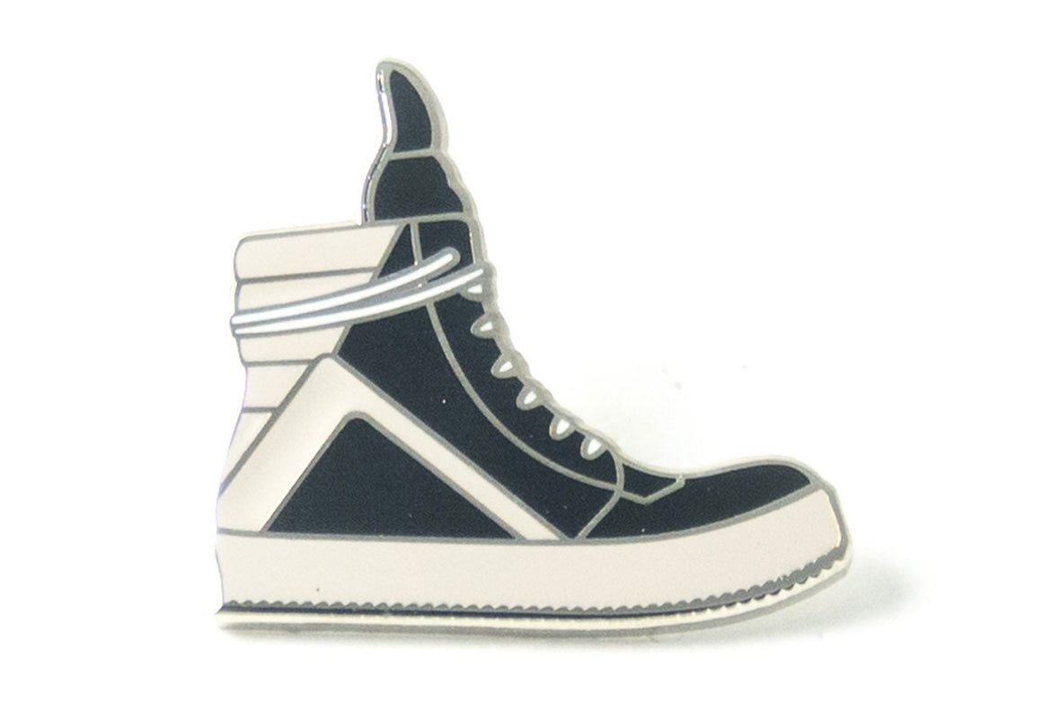 Geobasket Sneaker Pin - Black and White