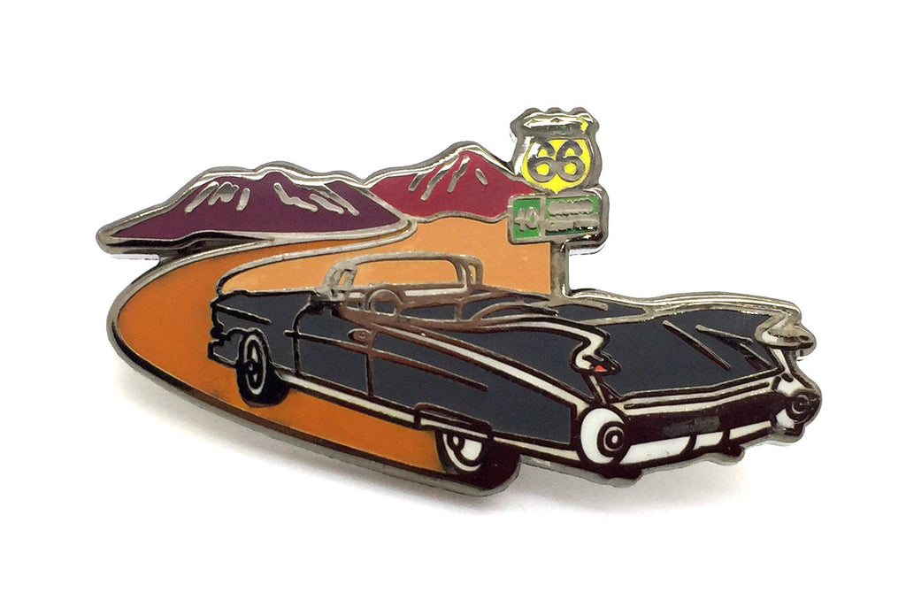 Cadillac Trill Trip Route 66 Pin