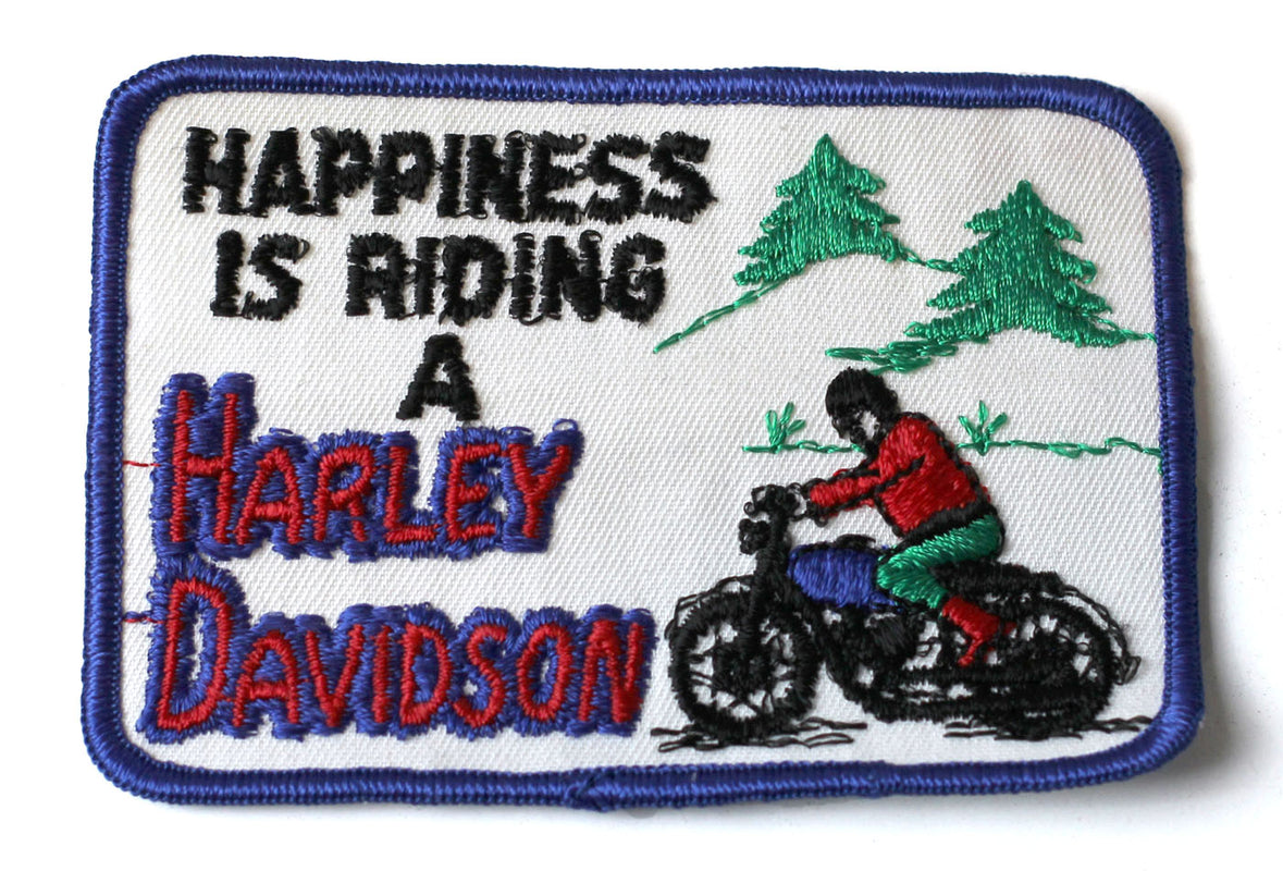 Vintage Harley Davidson Happiness Patch