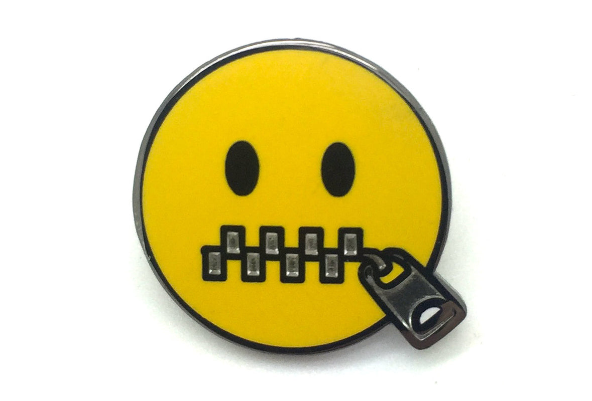 Zipper Mouth Pin
