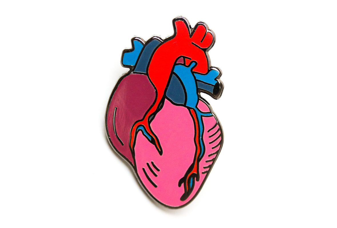 Anatomical Heart Pin Pintrill