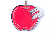 Razor Blade Apple Pin
