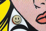 Comic Strip Smiley Pin