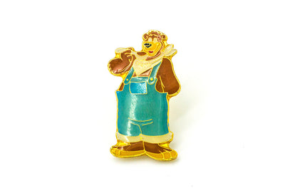 Vintage Cereal Bear Pin