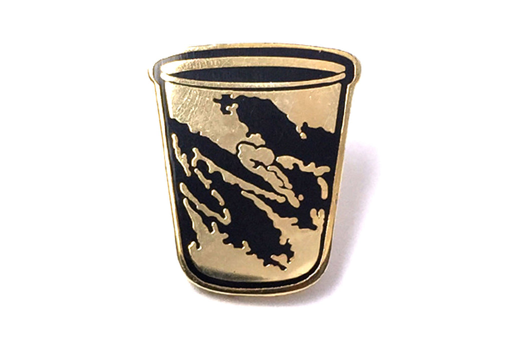 Fuck Jerry Jazz Cup Pin - Black and Gold
