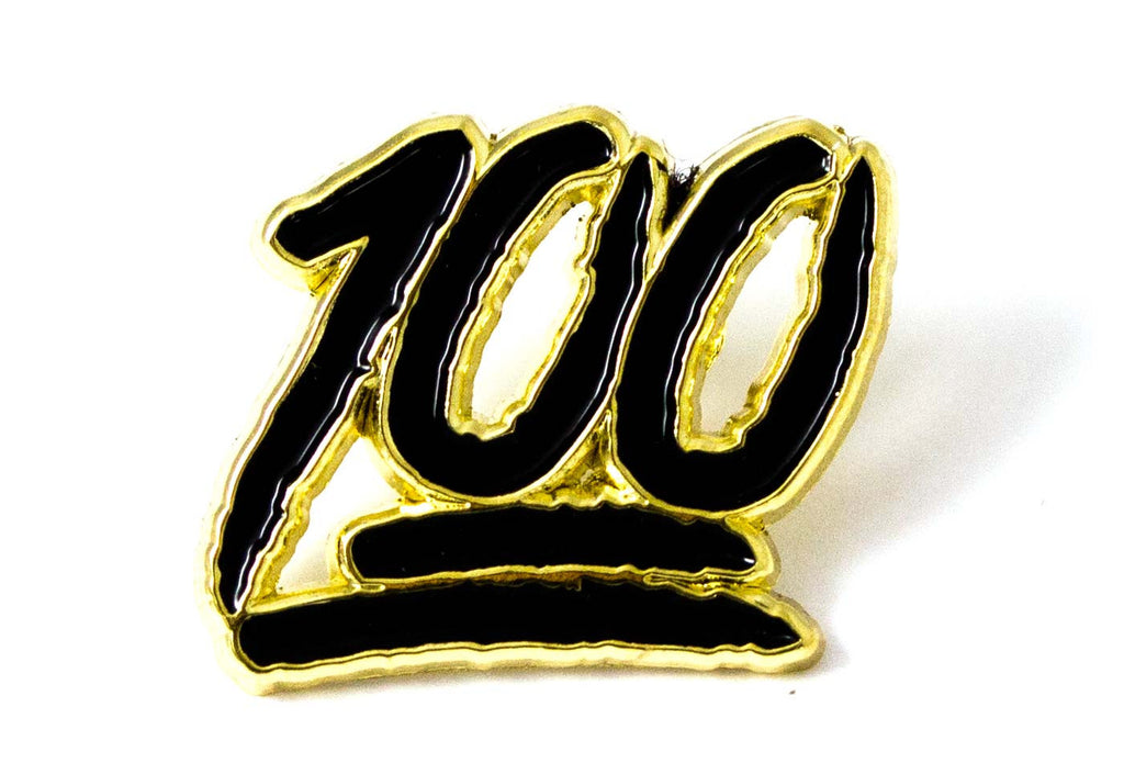 Hundred Pin - Black and Gold
