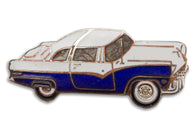 Vintage Blue Classic Car Pin