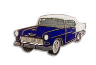 Vintage Blue Classic Car Pin 2