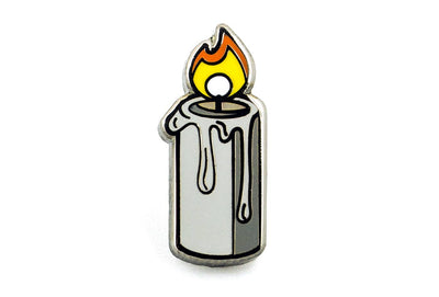 Lit Candle Pin