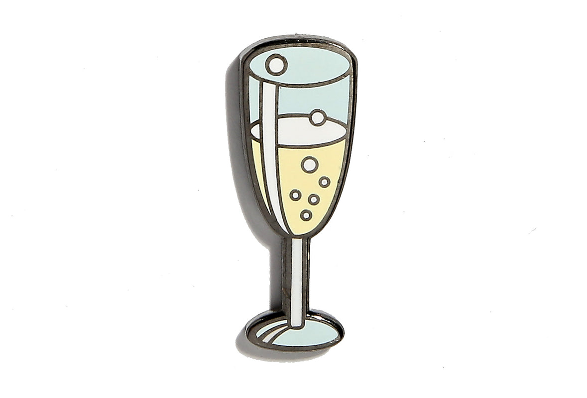 Champagne Glass Pin