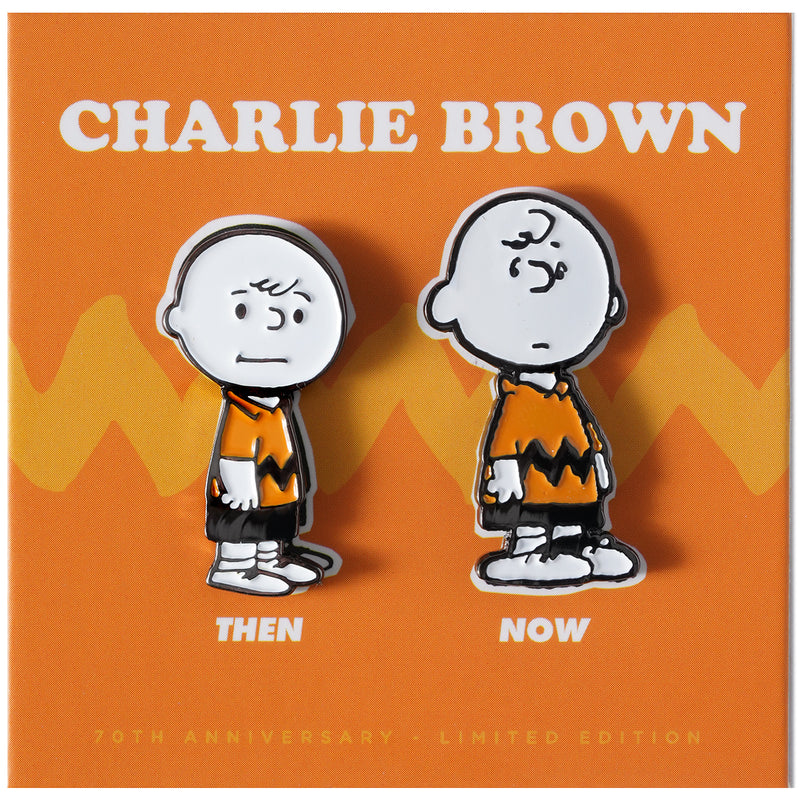 PEANUTS Then and Now - Charlie Brown Pin Set