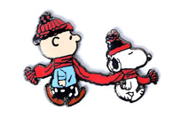 Peanuts - Charlie and Snoopy Scarf Pin