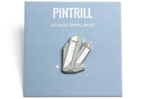 Clear Quartz Crystal Pin