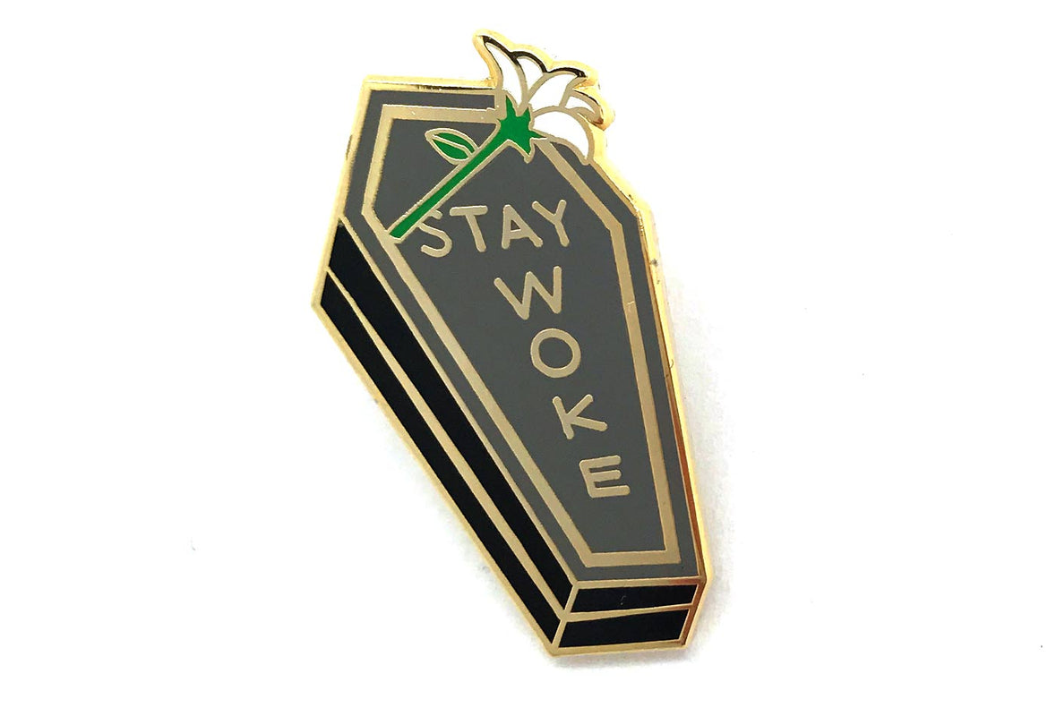 Stay Woke Coffin Pin