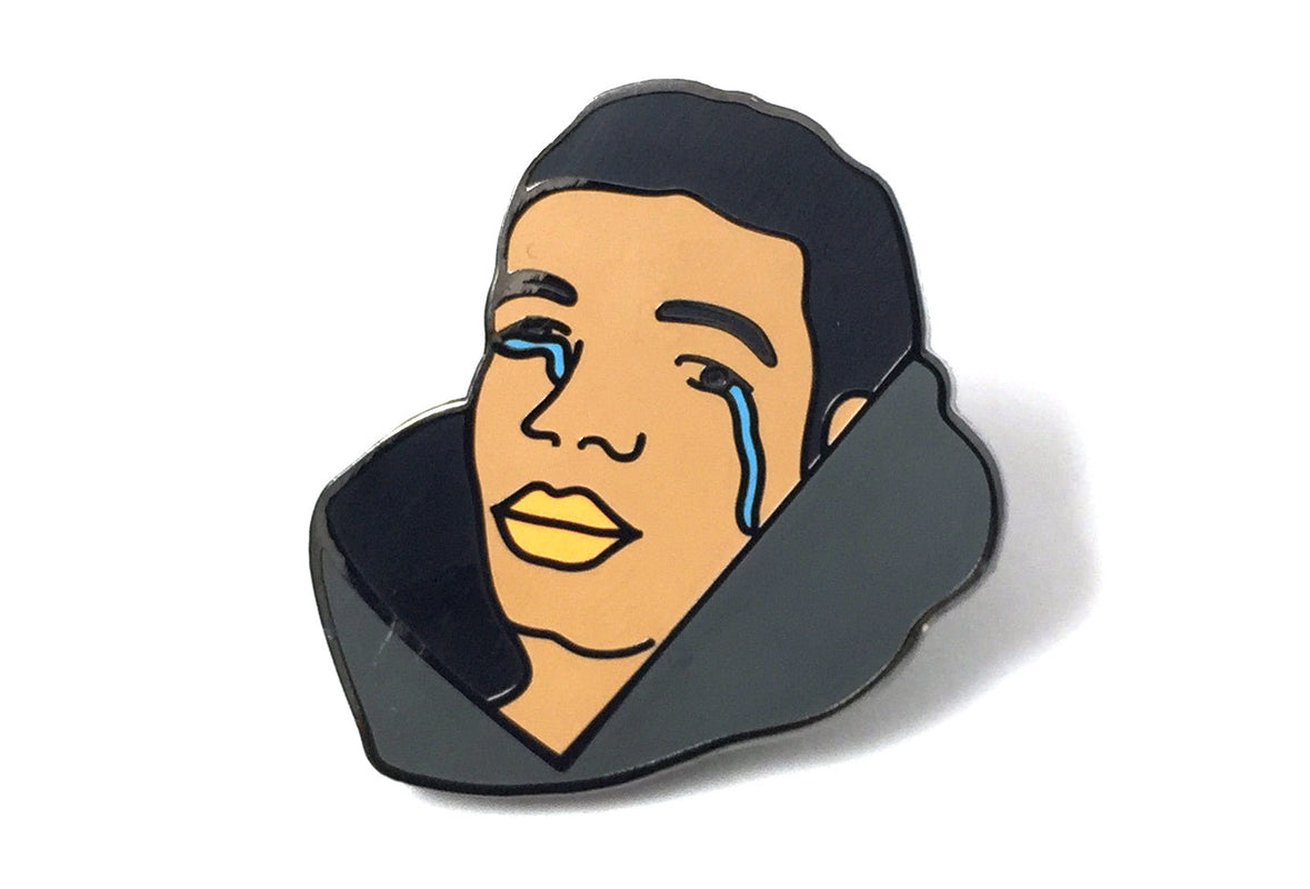 October's All Alone - Drake Tears Pin