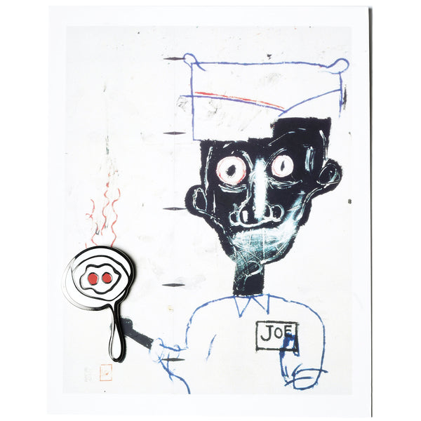 Jean-Michel Basquiat - Eyes and Eggs Postcard and Pin