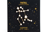 Constellations - Gemini Pin
