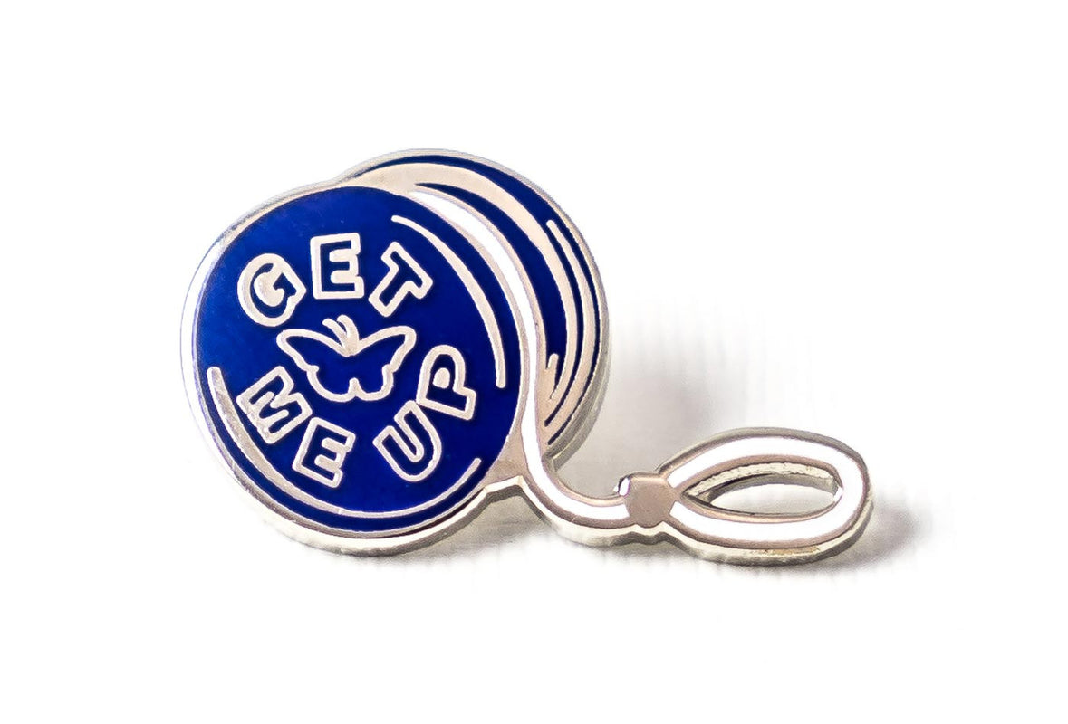 Get Me Up Yo-yo Pin - Blue