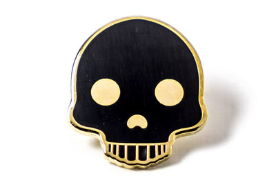 Skull Pin - Black and Gold