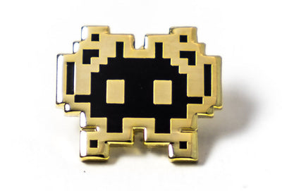 Invader Pin - Black and Gold