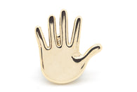 Open Hand Pin - Gold