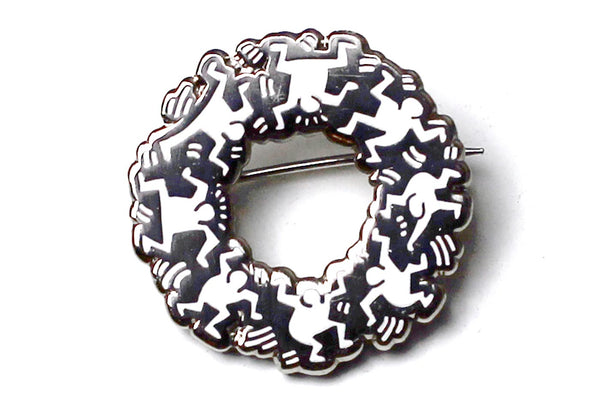 Keith Haring - Group Circle Pin