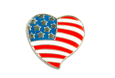 Vintage Heart Flag Pin
