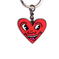 Keith Haring - Red Heart Face Keychain