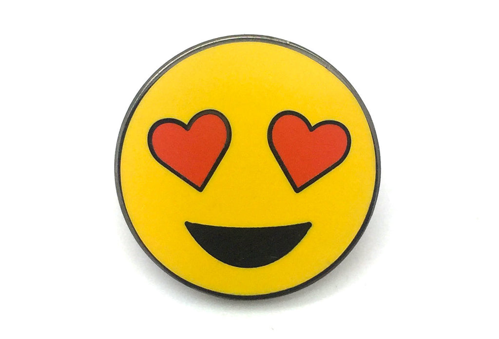 Heart Eyes Face Pin