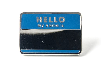 Hello My Name Is Pin - Blue