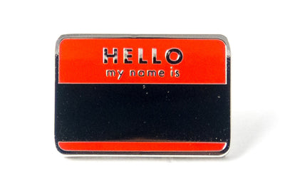 Hello My Name Is Pin - Red