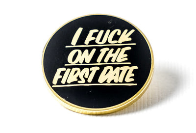 On the First Date Pin - Black and Gold