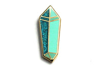 Jade Crystal Pin