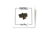 Keith Haring - Bat Demon Pin - Black and Gold
