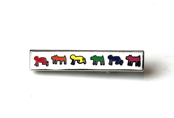 Keith Haring - Barking Dog and Radiant Baby Bar Pin