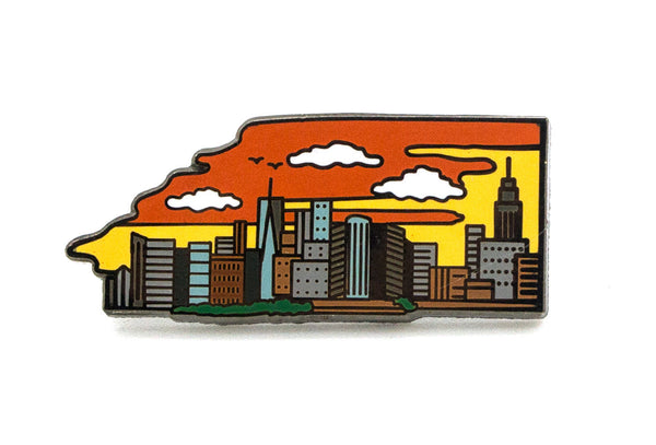 Manhattan Skyline Day Pin