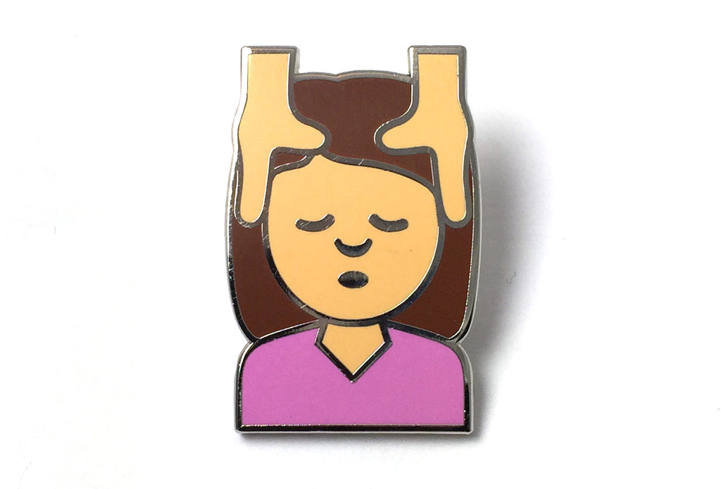 Girl Massage Pin