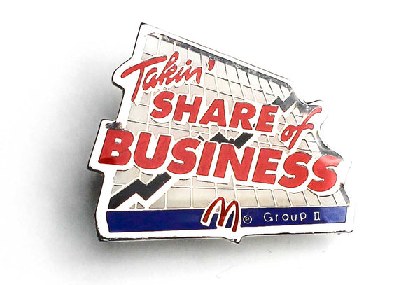 Vintage McDonald's Share of Business Pin
